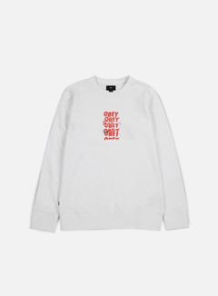 Obey - Can't Help You Crewneck, White