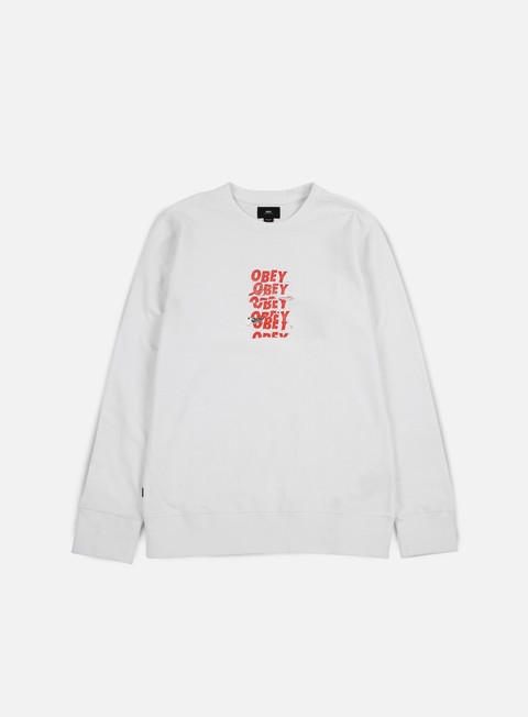 felpe obey can t help you crewneck white