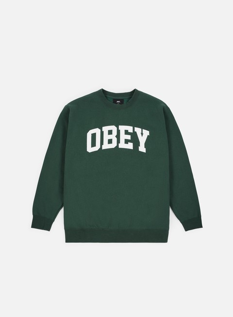 Sale Outlet Crewneck Sweatshirts Obey Collegiate Crewneck