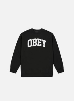 Obey - Collegiate Crewneck, Black