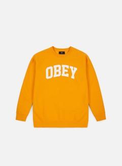 Obey - Collegiate Crewneck, Gold