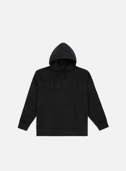 felpe obey construct hoody black