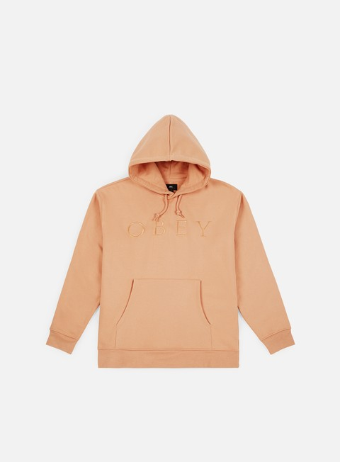 felpe obey construct hoody dusty coral