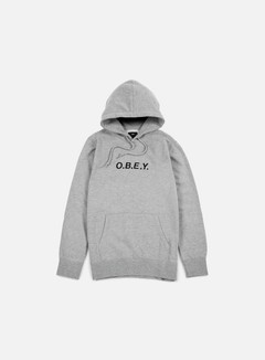 Obey - Contorted Hoodie, Heather Grey 1
