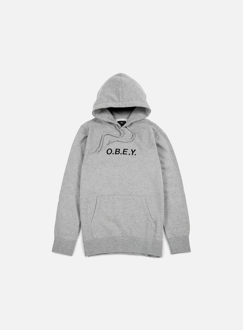 felpe obey contorted hoodie heather grey