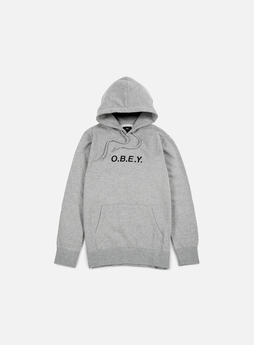 Obey - Contorted Hoodie, Heather Grey