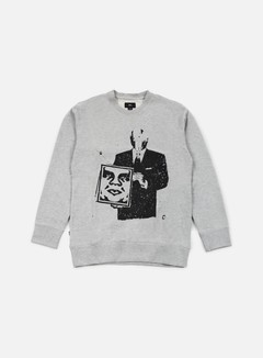 Obey - Corporate Violence Crewneck, Heather Grey 1