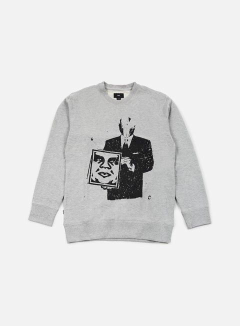 felpe obey corporate violence crewneck heather grey