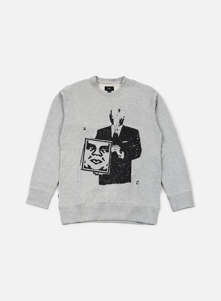 Obey - Corporate Violence Crewneck, Heather Grey