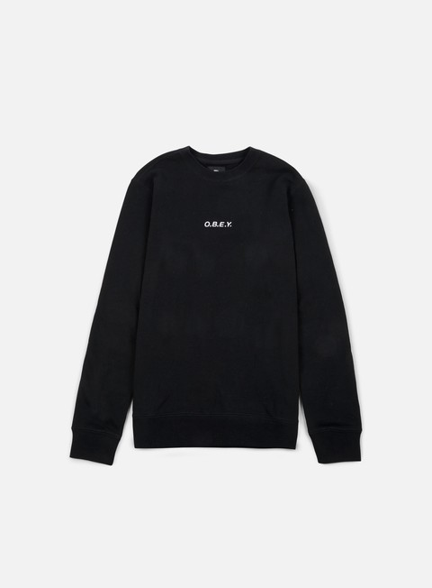 felpe obey corsaire crewneck black
