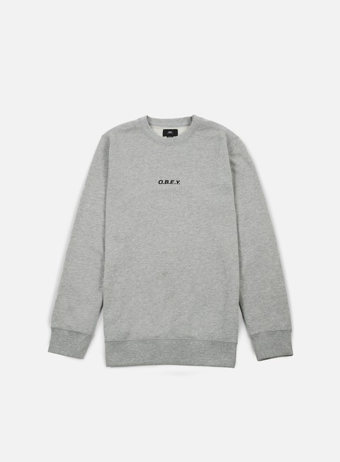 felpe obey corsaire crewneck heather grey