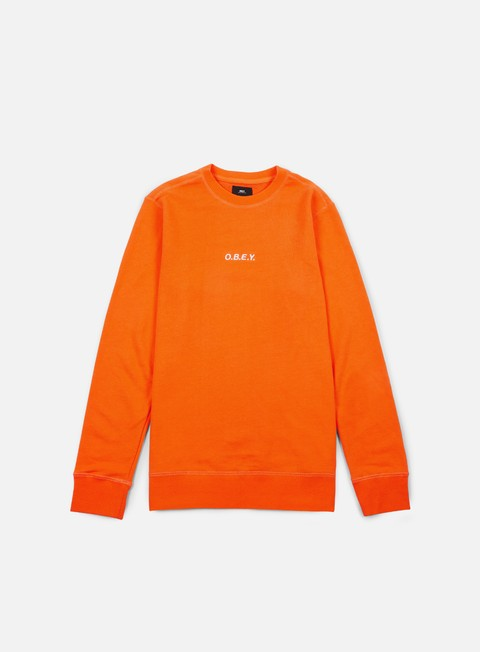 felpe obey corsaire crewneck orange