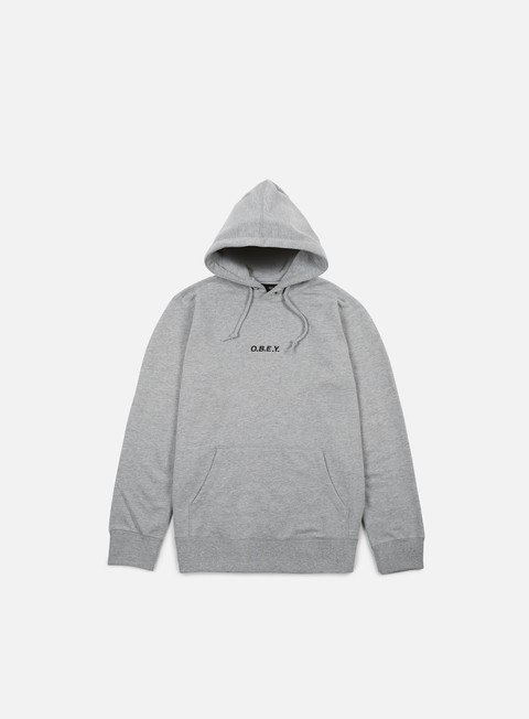 felpe obey corsaire hoodie heather grey