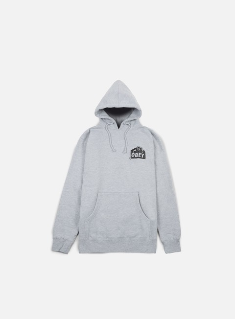 felpe obey devil hoodie heather grey