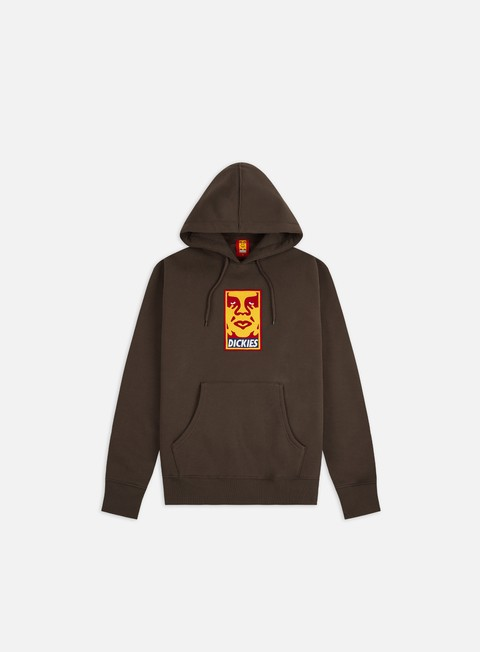 Felpe con Cappuccio Obey Dickies Oby4 Heavyweight Hoodie