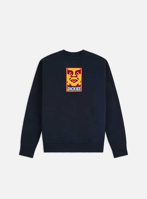 Felpe Girocollo Obey Dickies Oby5 Heavyweight Crewneck