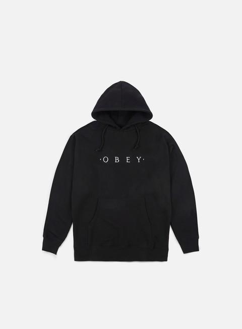 felpe obey distant hoodie black