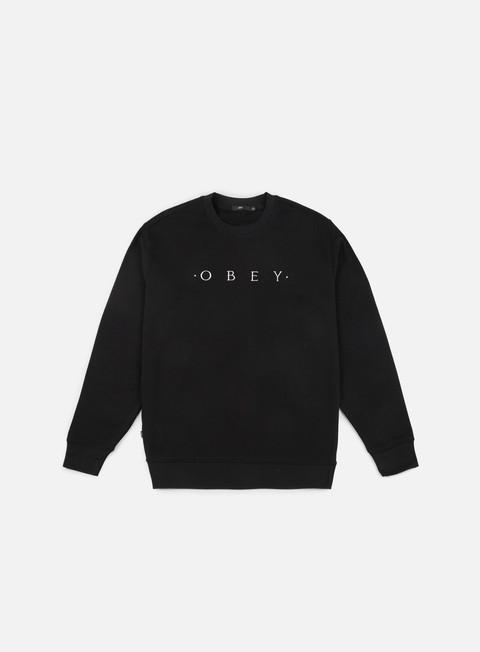 felpe obey div crewneck black
