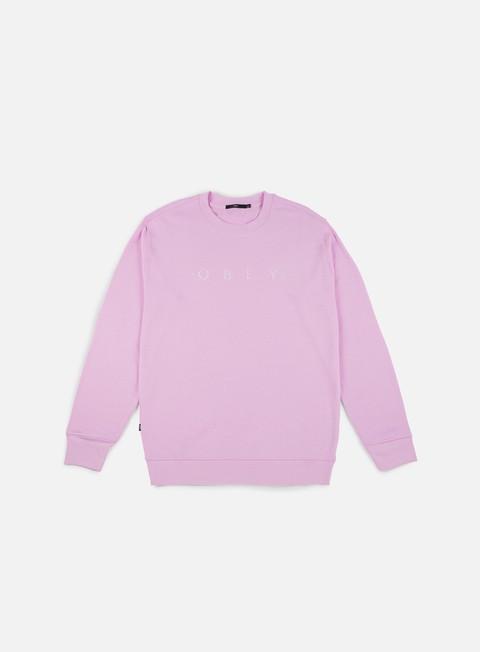 felpe obey div crewneck pink