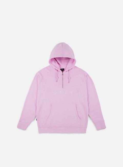 felpe obey div hoodie pink