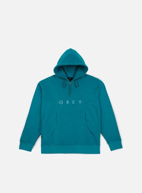 felpe obey div hoodie teal
