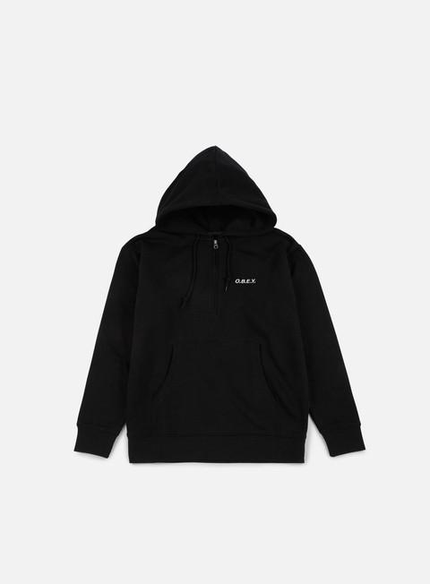 felpe obey ennet anorak hoodie black