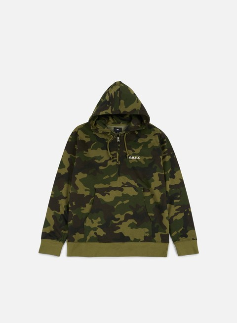 Felpe con Cappuccio Obey Ennet Anorak Hoodie