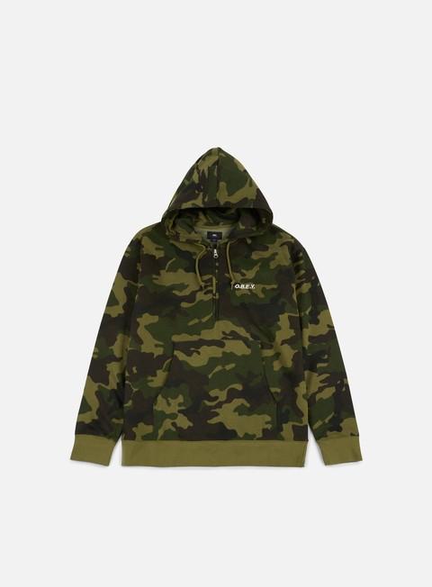 Hooded Sweatshirts Obey Ennet Anorak Hoodie