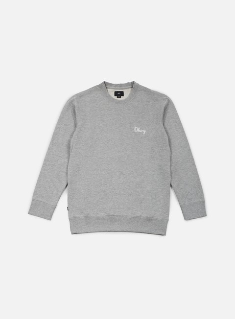 felpe obey euclid crewneck heather grey