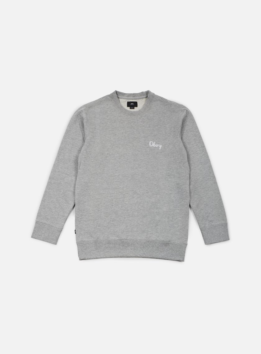 Obey - Euclid Crewneck, Heather Grey