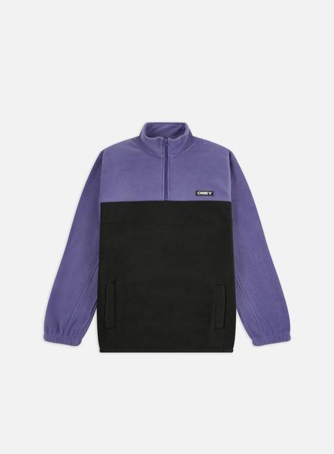 Sweaters and Fleeces Obey Eulogy Mock Neck Zip Fleece