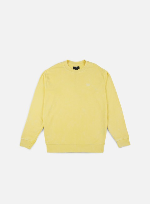 felpe obey fade pigment crewneck yellow
