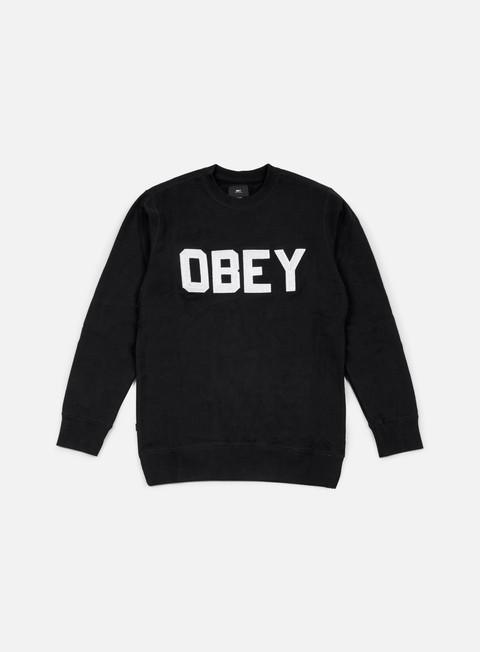 felpe obey fordam crewneck black