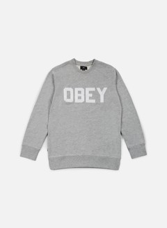 Obey - Fordam Crewneck, Heather Grey