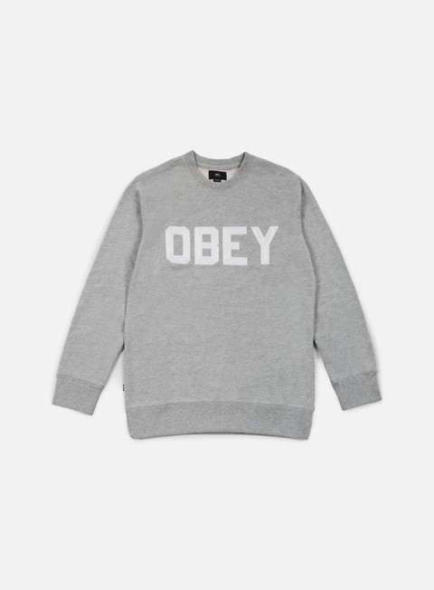 felpe obey fordam crewneck heather grey
