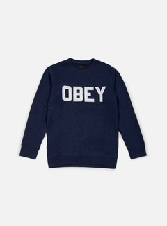 Obey - Fordam Crewneck, Navy 1