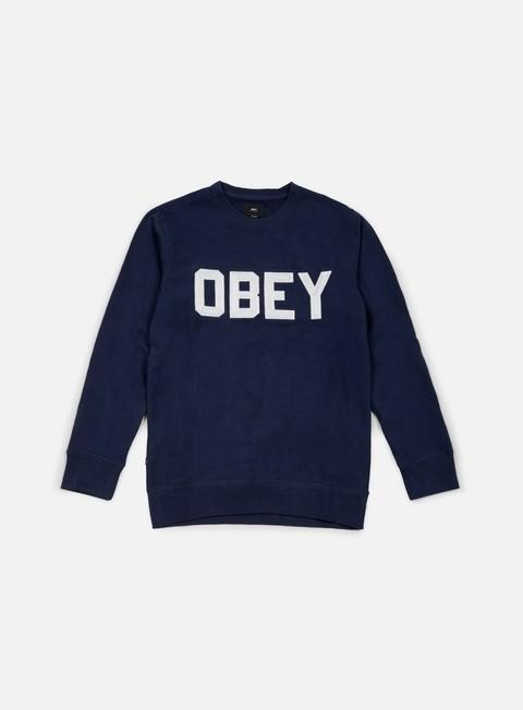 felpe obey fordam crewneck navy