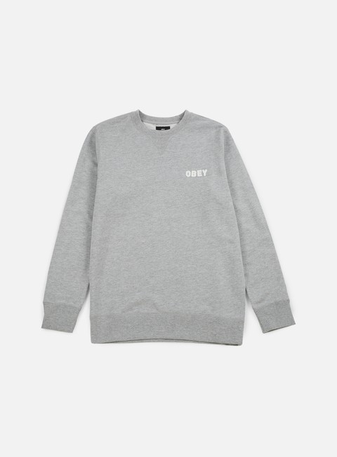 felpe obey foster crewneck heather grey