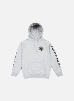 Obey - Freedom Cuffs Hoodie, Heather Grey 1