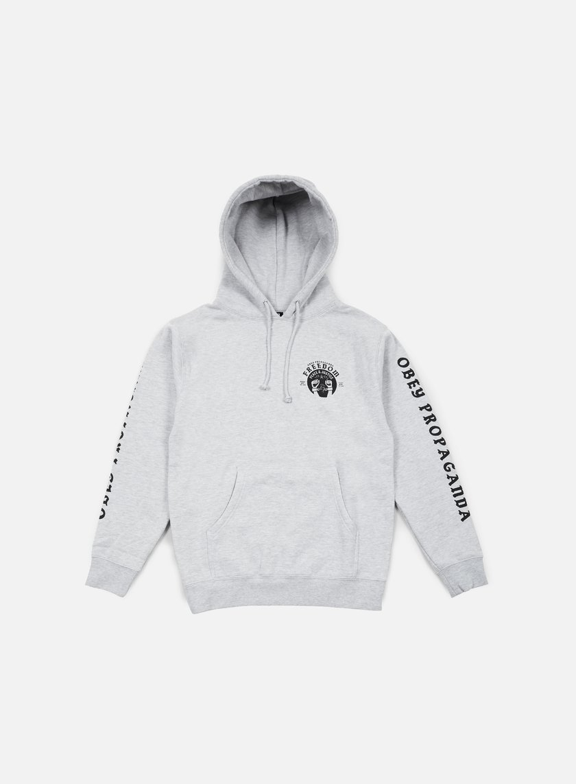 Obey - Freedom Cuffs Hoodie, Heather Grey