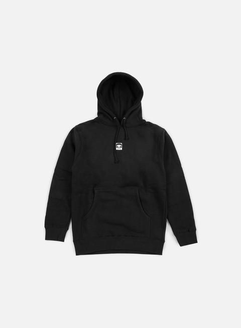 felpe obey half face hoodie black