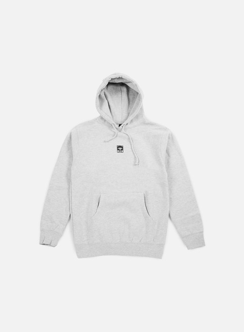 felpe obey half face hoodie heather grey