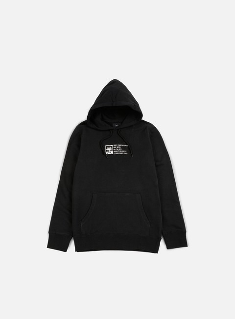 felpe obey half face mil spec hoodie black