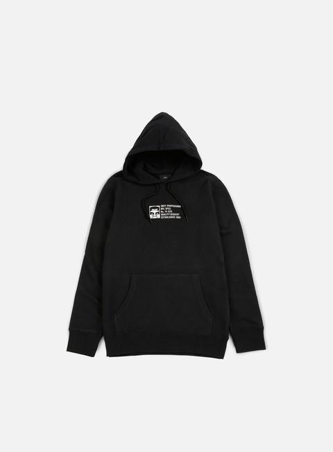felpe obey half face mil spec hoodie black