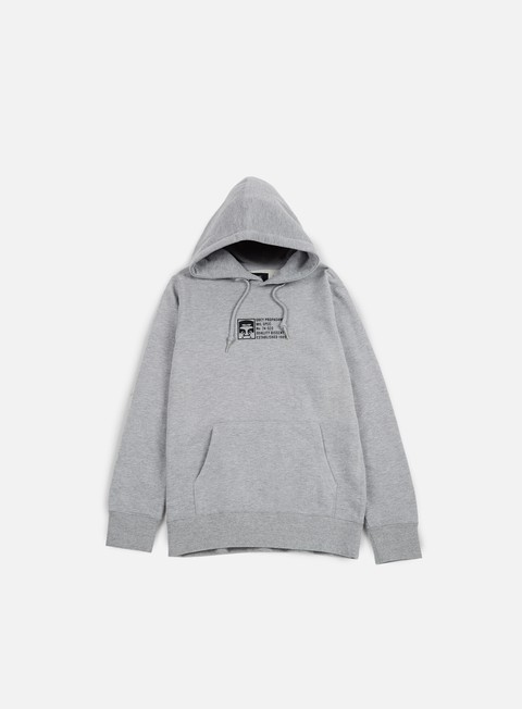 felpe obey half face mil spec hoodie heather grey
