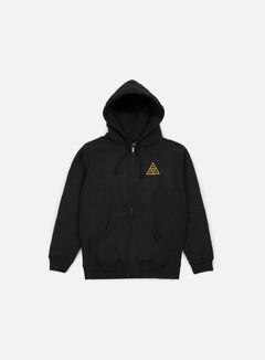 Obey - Huf Icon Face Zip Hoodie, Black 1