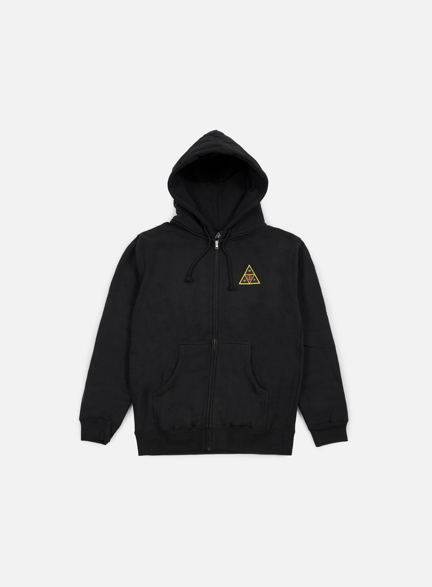 Obey - Huf Icon Face Zip Hoodie, Black