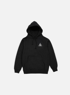 Obey - Huf Triple Triangle Hoodie, Black 1
