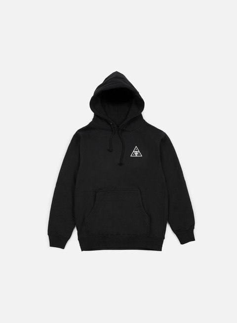 felpe obey huf triple triangle hoodie black