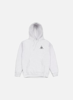 Obey - Huf Triple Triangle Hoodie, White 1